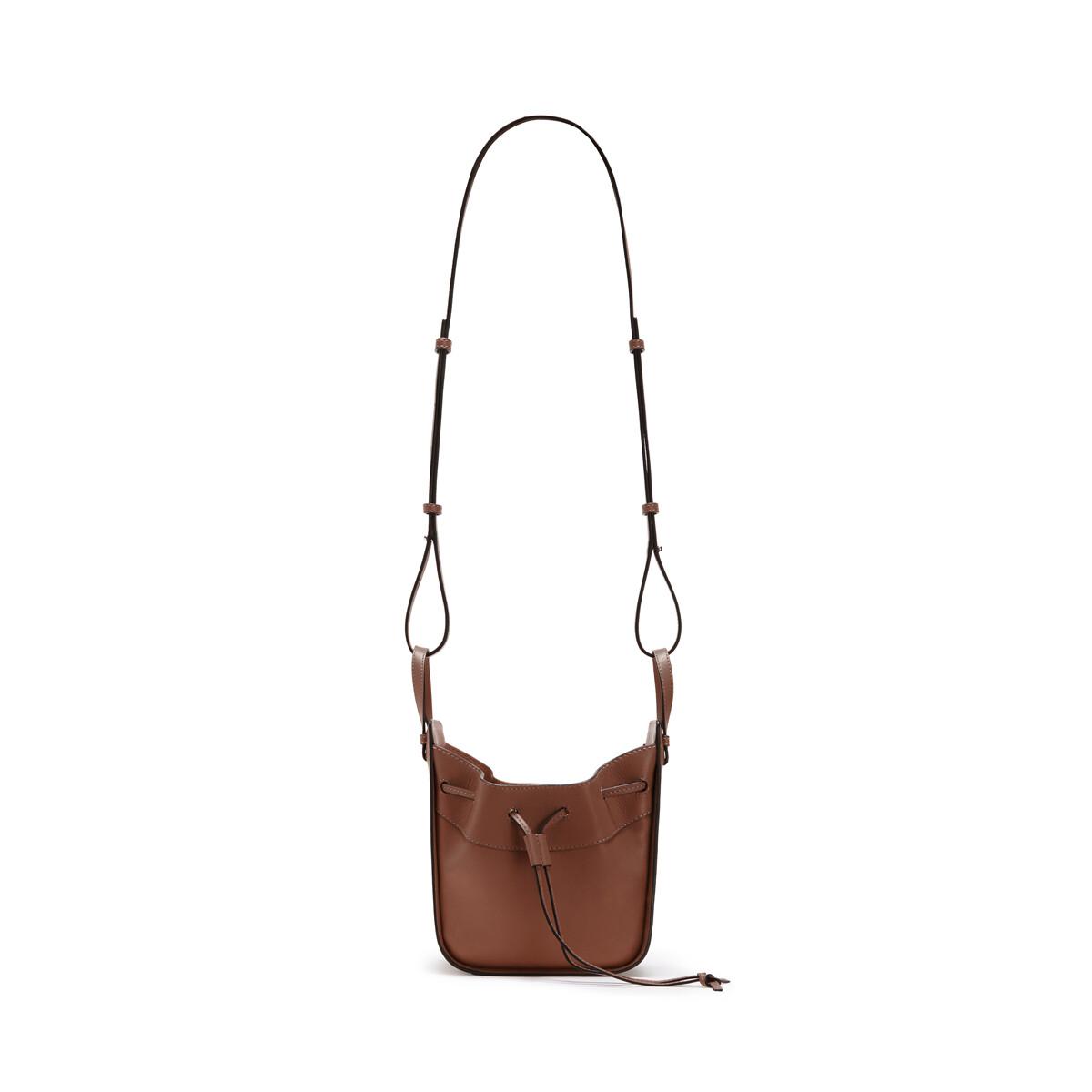 LOEWE Hammock Drawstring Mini Bag Brunette front
