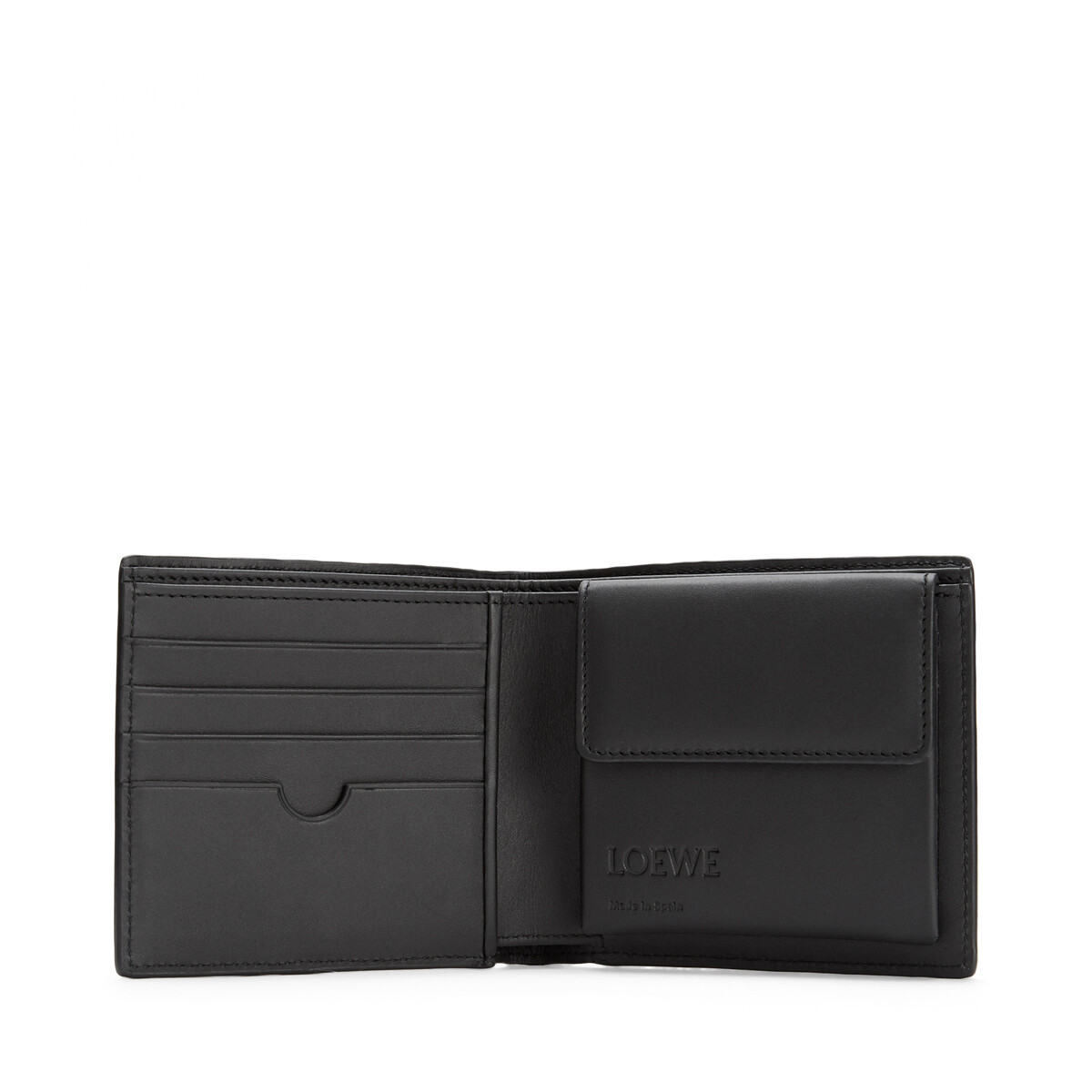 LOEWE Puzzle Bifold Coin Wallet 靛蓝色 front