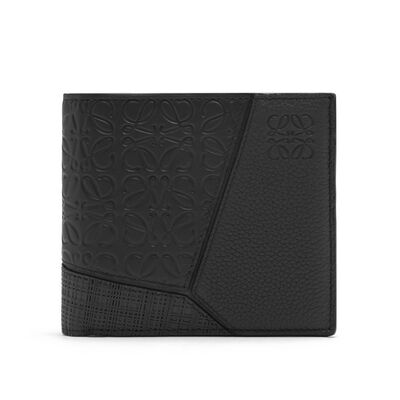 LOEWE Puzzle Multitexture Bifold Black front