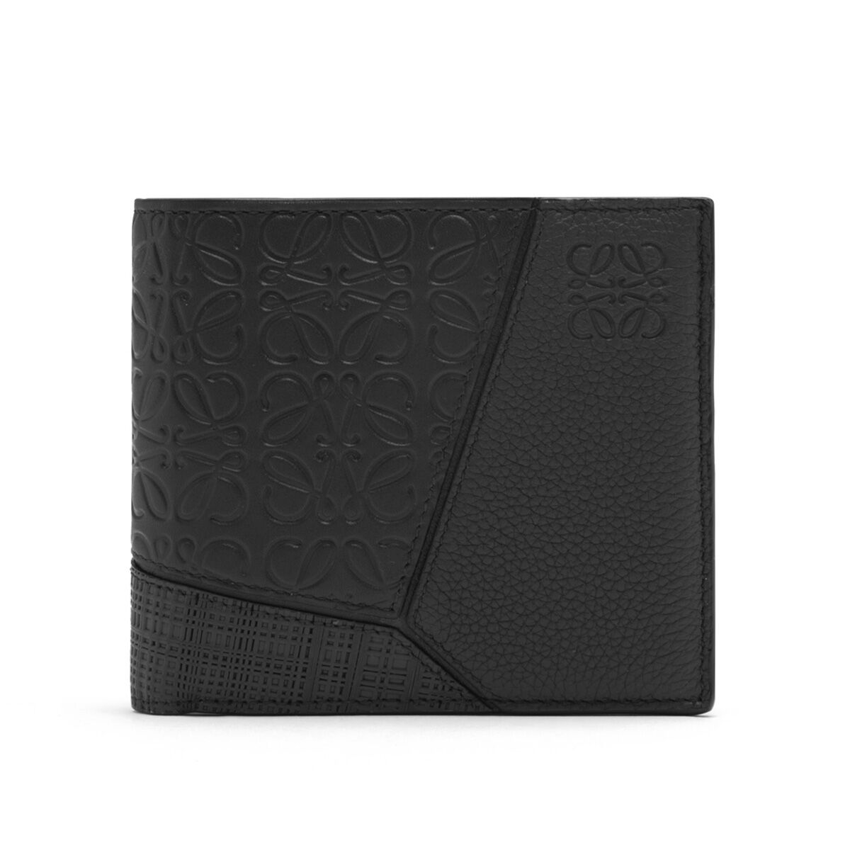 LOEWE Puzzle Multitexture Bifold Coi Black all