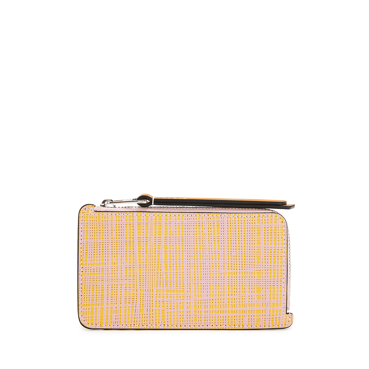 LOEWE Coin Cardholder Large Yellow/Pink front
