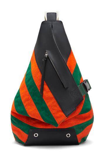 LOEWE Mochila Anton Rugby Verde/Naranja front
