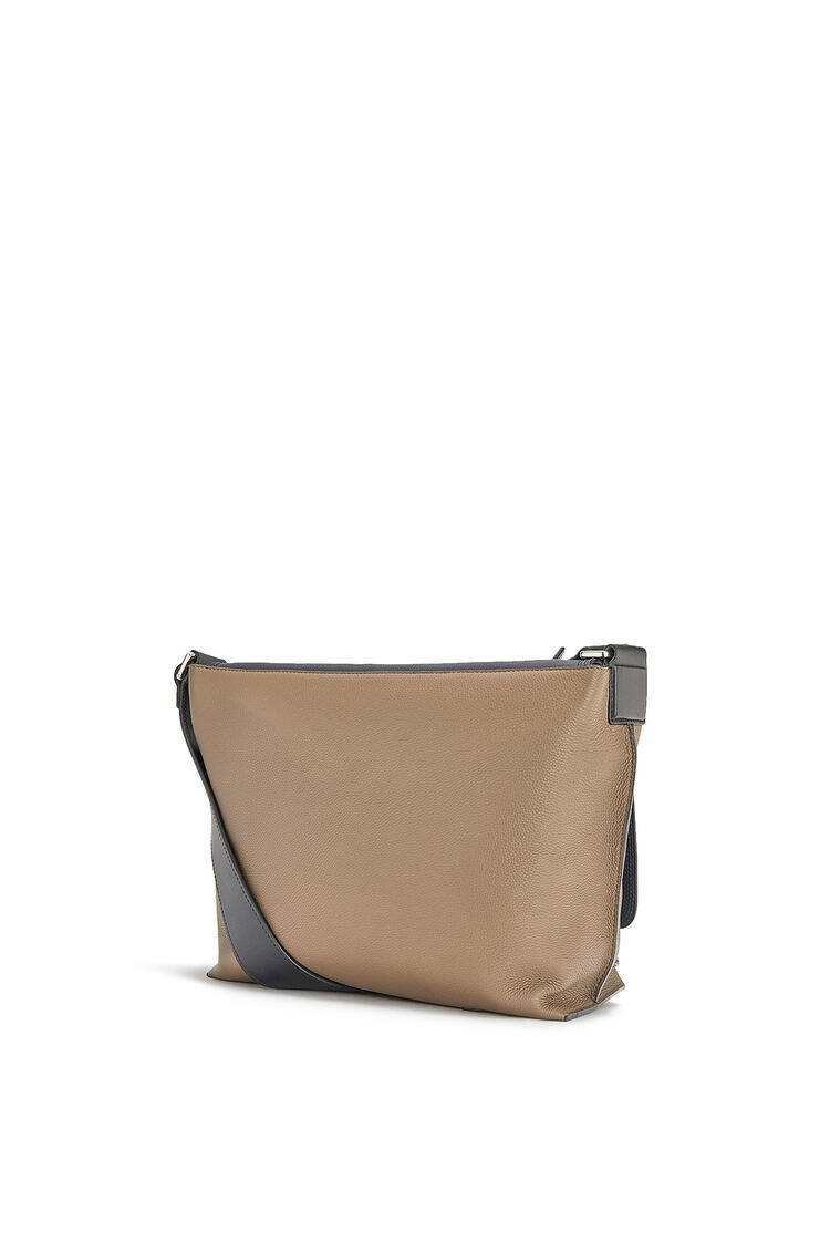 LOEWE Small Military Messenger bag in calfskin Deep Blue/Dark Taupe pdp_rd