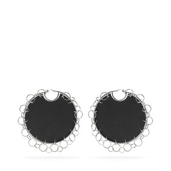 LOEWE Chain Earrings 黑色 front