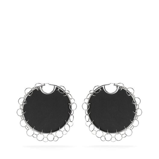 LOEWE Chain Earrings Black front