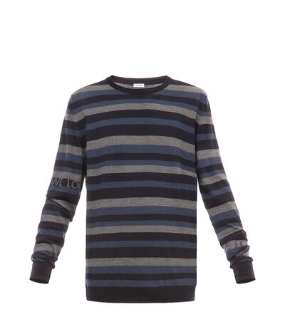 LOEWE Stripe Sweater Blue/Multicolor front