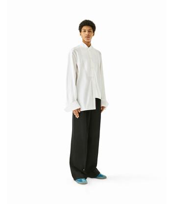 LOEWE Oversize Asymmetric Shirt ホワイト front