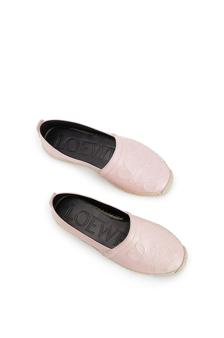 LOEWE Anagram Espadrille In Lambskin Light Pink pdp_rd