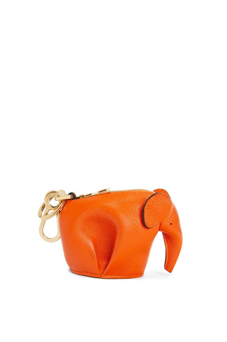 LOEWE Elephant charm in classic calfskin Orange pdp_rd