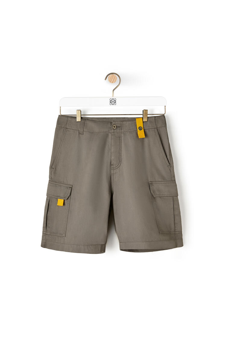 LOEWE Cargo shorts in cotton Charcoal pdp_rd