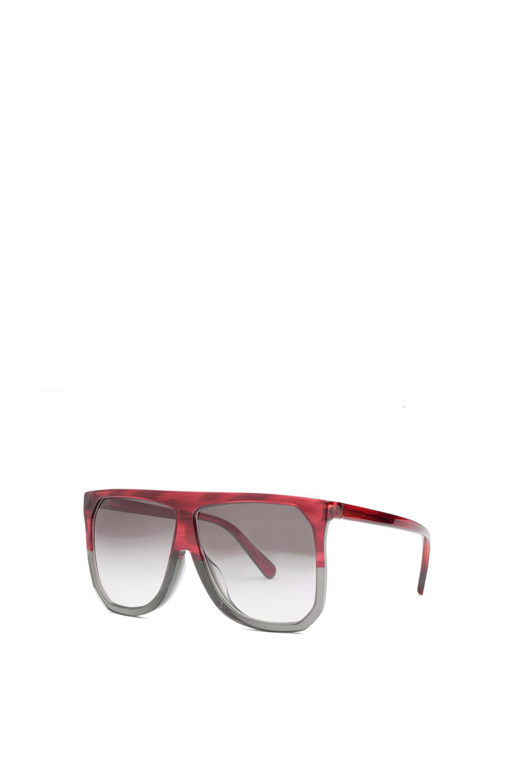 LOEWE Filipa Sunglasses in acetate Burgundy/Grey/Gradient Grey pdp_rd