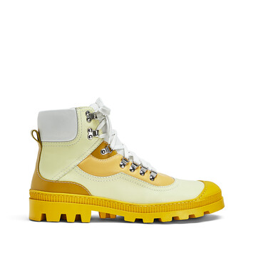 LOEWE Hiking Boot Yellow Multitone front