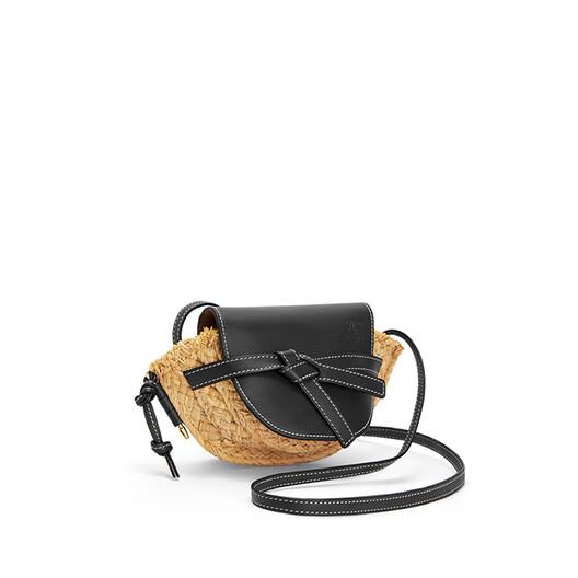 LOEWE Gate Mini Bag Black/Natural front