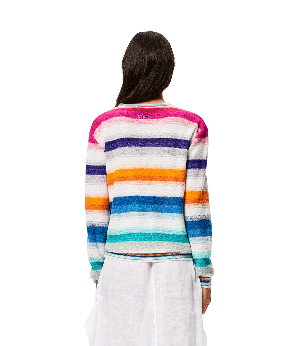 LOEWE Sweater In Striped Cotton Multicolor/White front