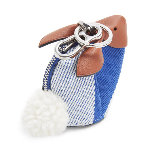 LOEWE Bunny Stripes Charm Pacific Blue/Multicolor front