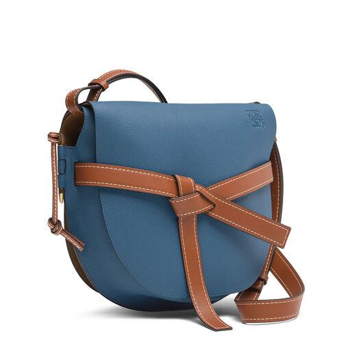LOEWE Gate Bag Varsity Blue/Pecan Color front