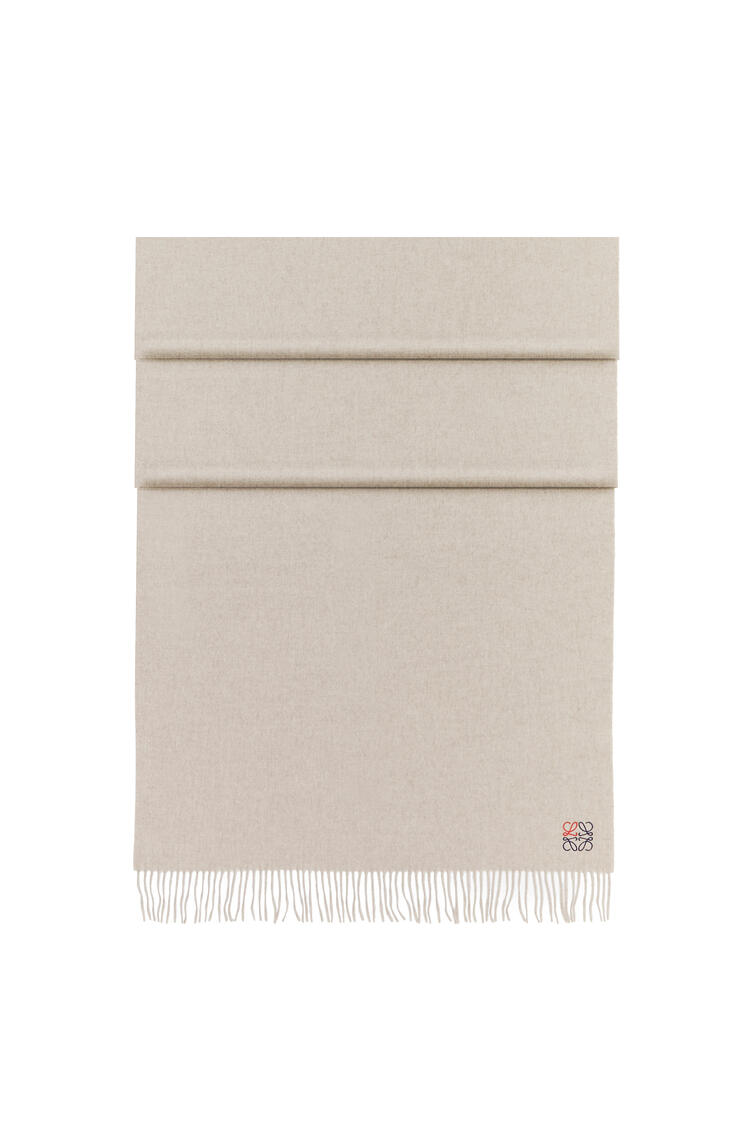 LOEWE Anagram scarf in cashmere Beige pdp_rd