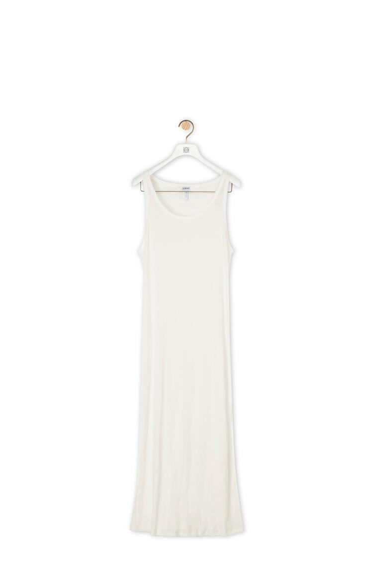 LOEWE Long Rib Tank Top In Cotton White pdp_rd