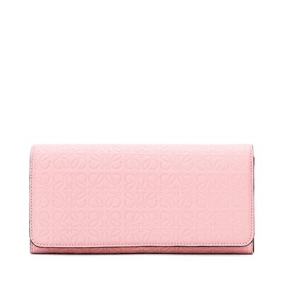 LOEWE Continental Wallet Soft Pink front