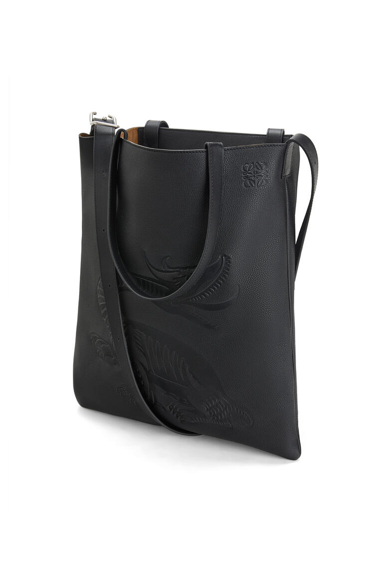 LOEWE VERTICAL TOTE DRAGON BAG Black pdp_rd