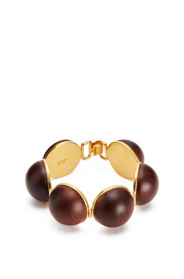 LOEWE Globe bracelet in wood Brown pdp_rd