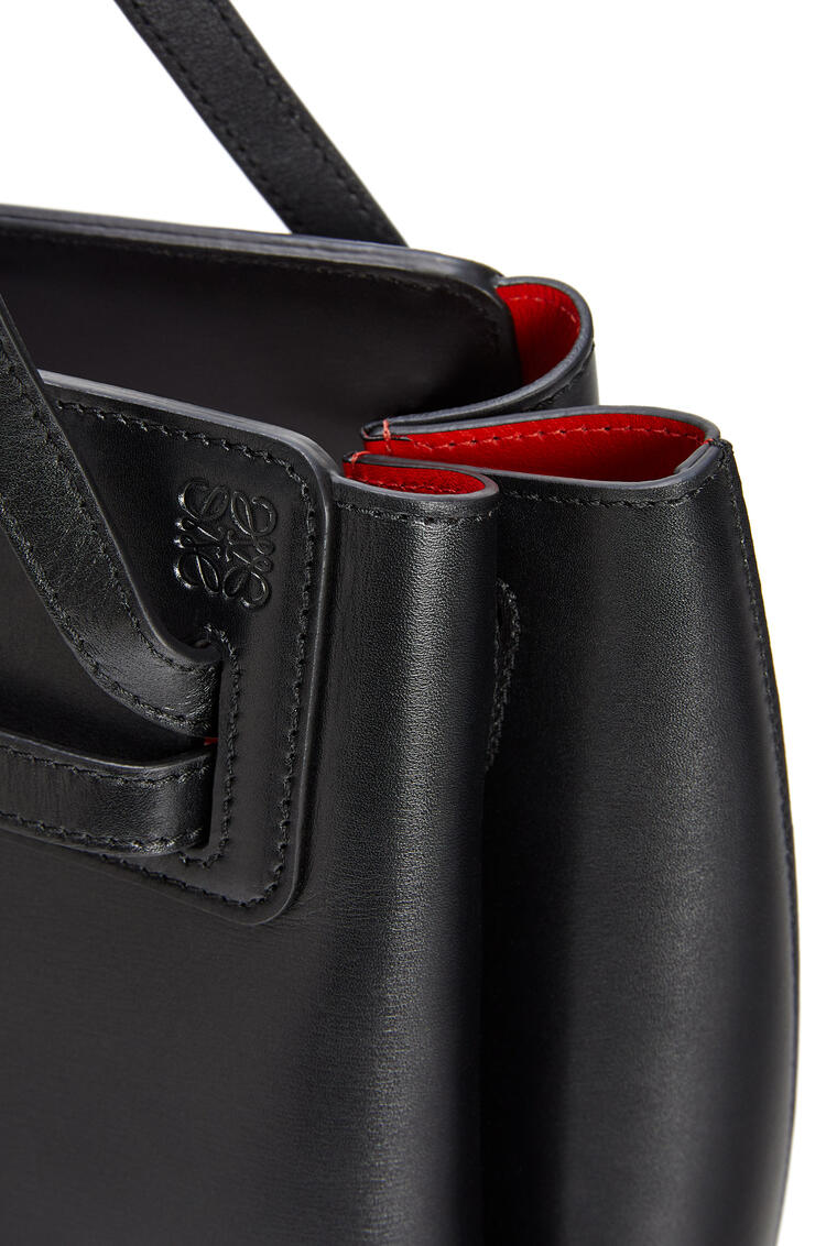 LOEWE Lazo shopper bag in box calfskin Black pdp_rd