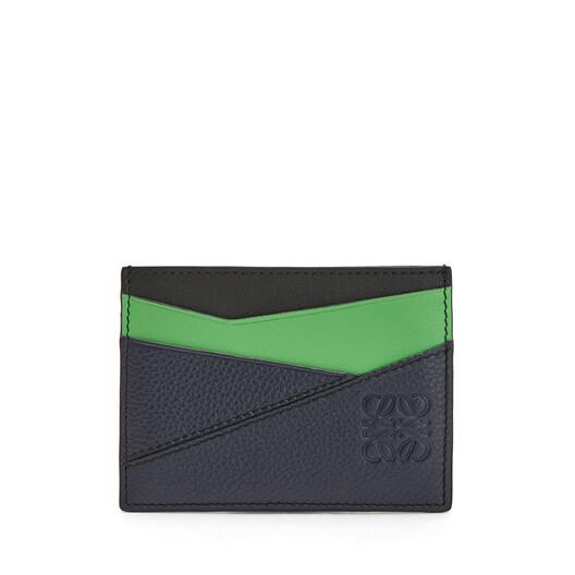 LOEWE Puzzle Plain Cardholder Deep Blue/Green front