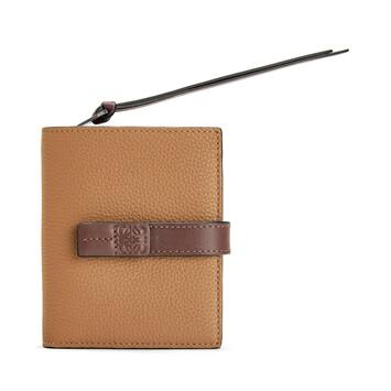 LOEWE Compact Zip Wallet Light Caramel/Pecan Color  front