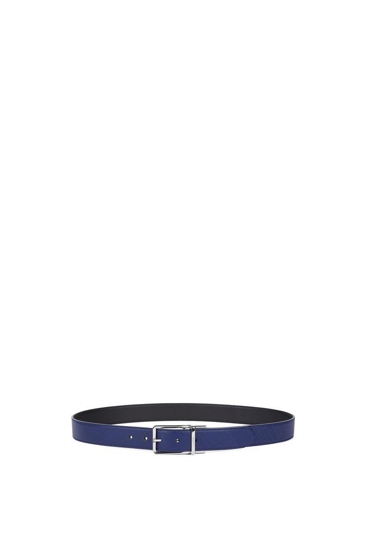 LOEWE Cinturón formal en piel de ternera Marino/Negro/Paladio pdp_rd