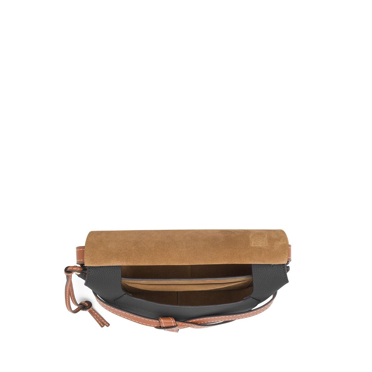 LOEWE Gate Small Bag Black/Pecan Color all
