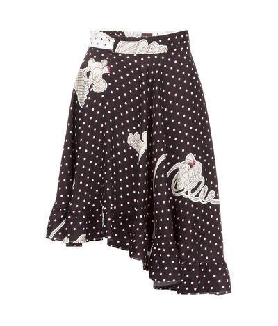 LOEWE Skirt Paula Plumetis Black/White front