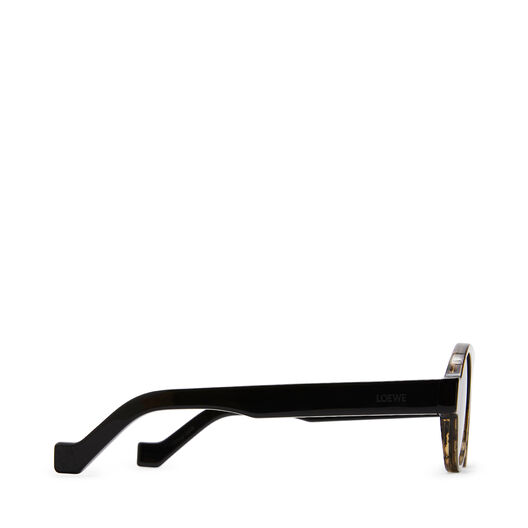 LOEWE Round Aviator Sunglasses ブラック front