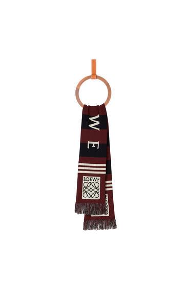 LOEWE 17 x 120 cm LOEWE jacquard scarf in cashmere Dark Red pdp_rd
