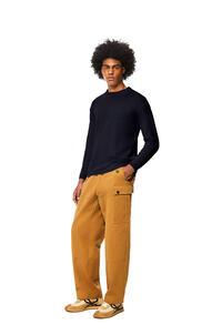 LOEWE Crewneck sweater in alpaca and wool Navy Blue pdp_rd