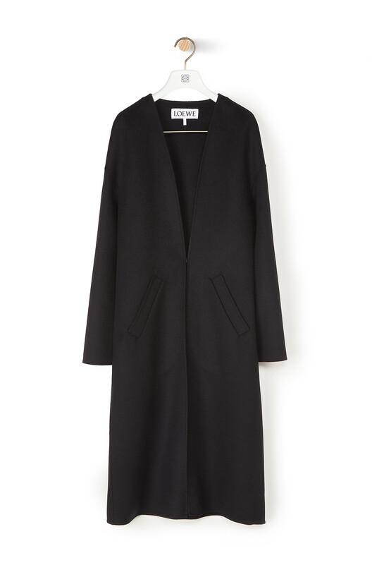 LOEWE Collarless Coat Negro front