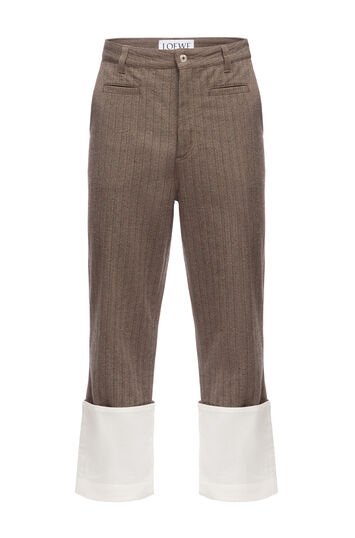 LOEWE Striped Fisherman Trousers Brown front
