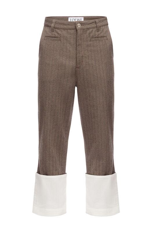LOEWE Striped Fisherman Trousers Brown front