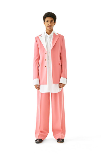 LOEWE Pleated Trousers Old Pink front