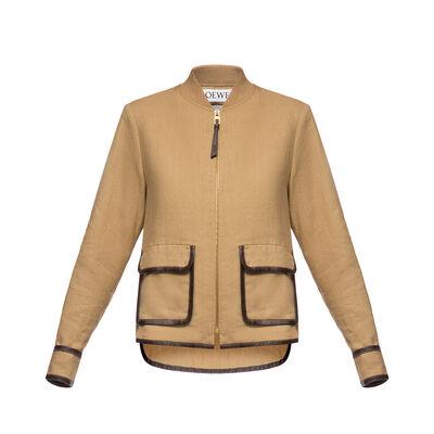 LOEWE Zip Jacket Saharienne Beige front
