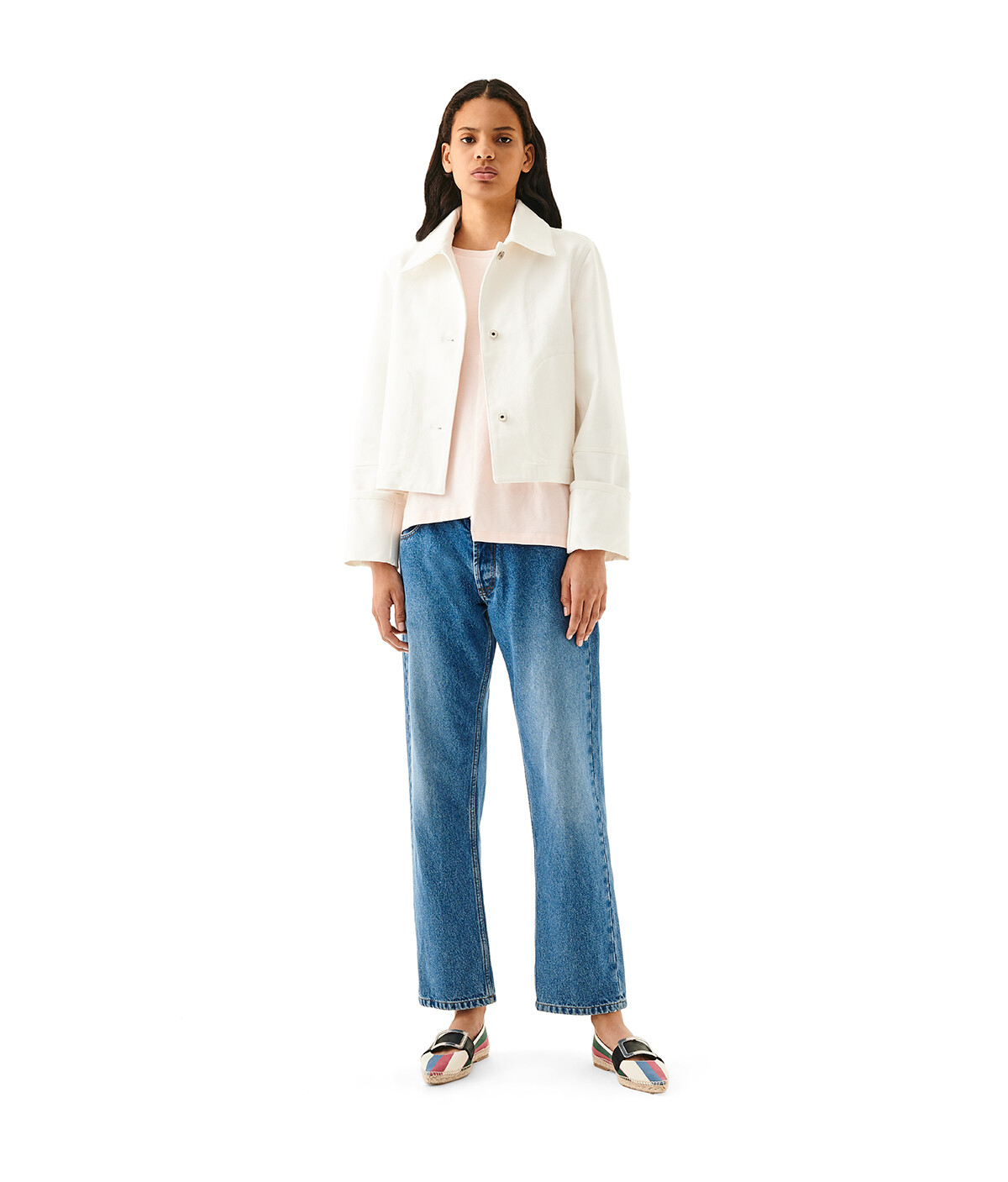 LOEWE Button Jacket White front