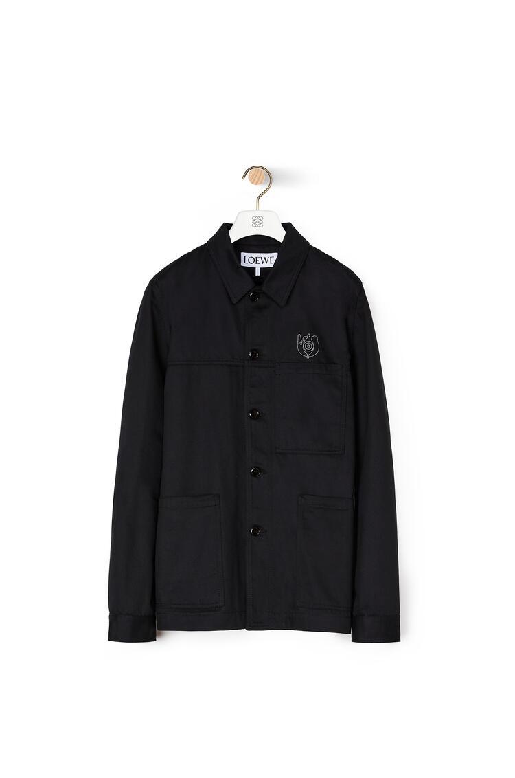 LOEWE Chaqueta de trabajo en algodón Negro pdp_rd