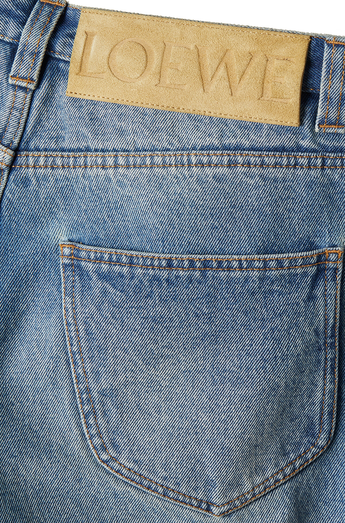 LOEWE 5 Pockets Jeans Washed Denim front