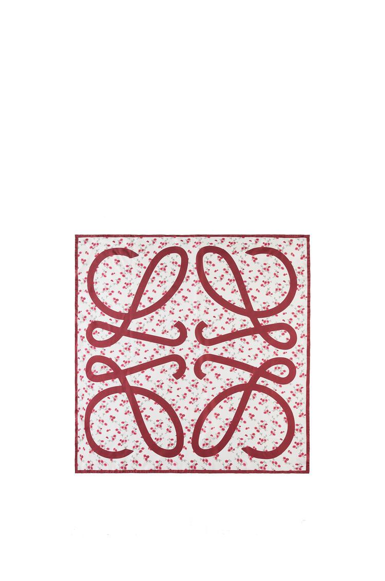 LOEWE 90 x 90 cm flower scarf in silk Red pdp_rd