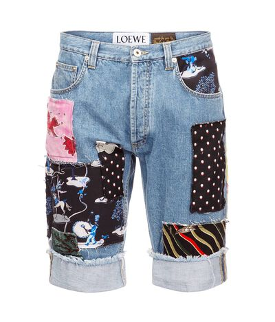 LOEWE Shorts Paula Patches Indigo/Multicolour front