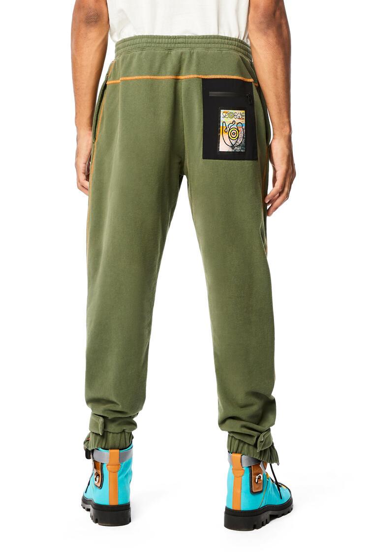 LOEWE Fleece Trousers In Cotton Khaki Green pdp_rd