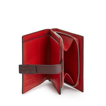 LOEWE Compact Zip Wallet Poppy Pink front
