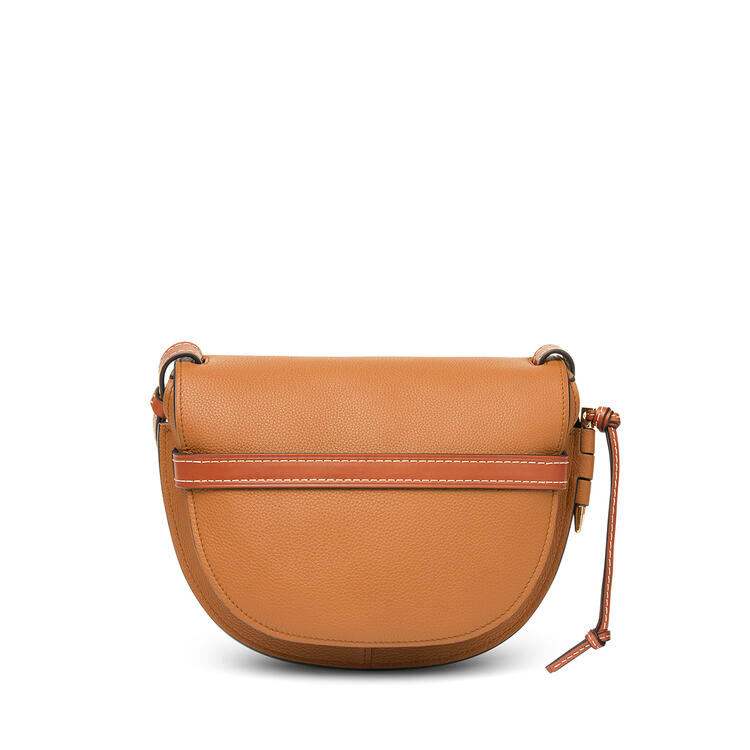 LOEWE Small Gate bag in soft grained calfskin Light Caramel/Pecan pdp_rd