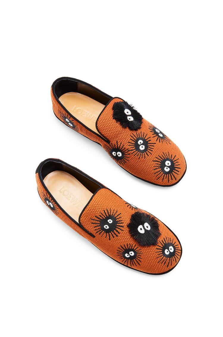 LOEWE 聚酯纤维小灰兔拖鞋 棕褐色/黑色 pdp_rd