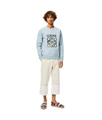 LOEWE Anagram Sweatshirt Azul Bebe front