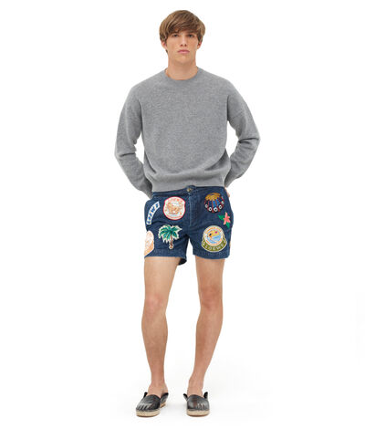 LOEWE Shorts Patches ブルー/マルチカラー front